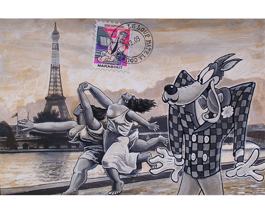 oeuvreart postal marabout artiste peintre sculpteur